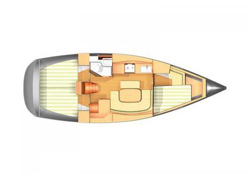 Plan intérieur DUFOUR 365 - Sail III