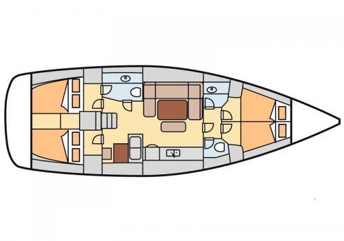 Plan intérieur DUFOUR 445 - Dimitile
