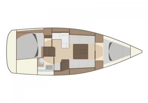 Plan intérieur DUFOUR 335 - Filao