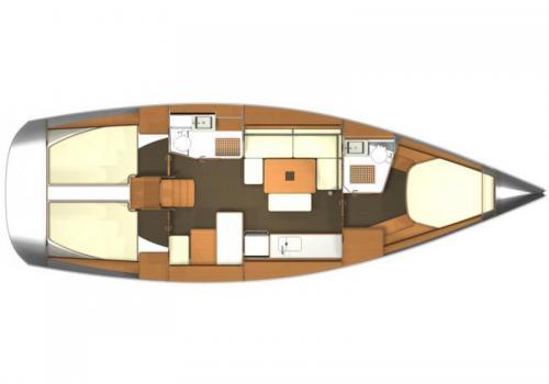 Plan intérieur DUFOUR 405 - Ventastic