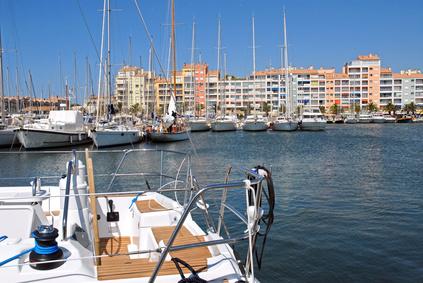 Port d'Hyères depuis un bateau
