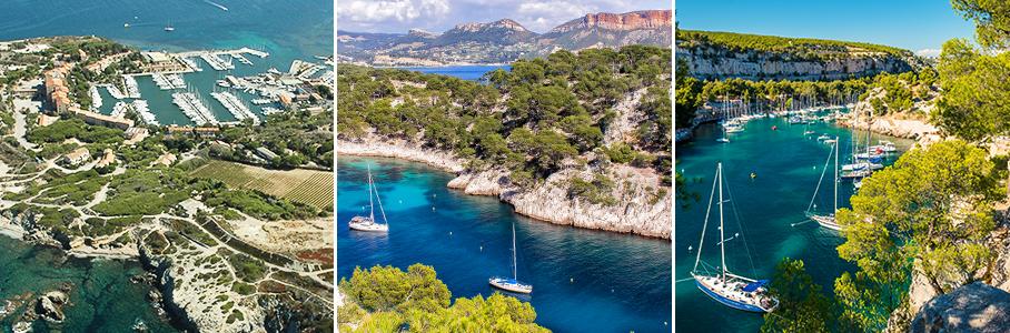 Embiez et calanques de Marseille - Cassis