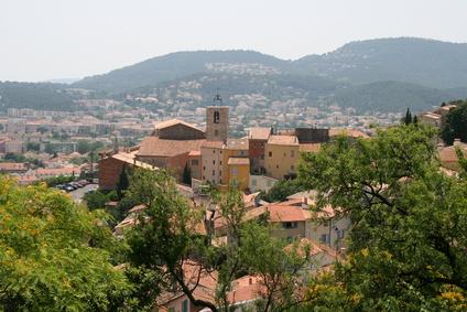 Ville d'Hyères vue des hauteurs